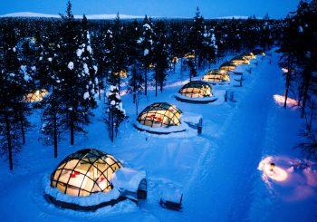 Overnachten in een iglo in Kakslauttanen